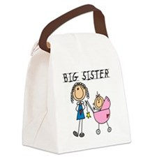 Big Sister With Little Sis Canvas Lunch Bag