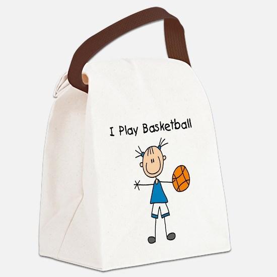 iplaybasketballgirl.png Canvas Lunch Bag