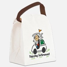 ENJOYRETIRMEENGOLF.png Canvas Lunch Bag