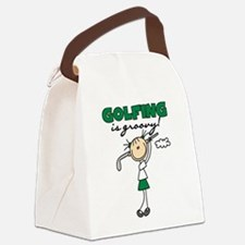 golfingisgroovy.png Canvas Lunch Bag