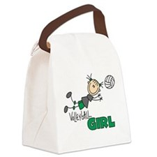 VOLLEYBALLGIRLTEE.png Canvas Lunch Bag