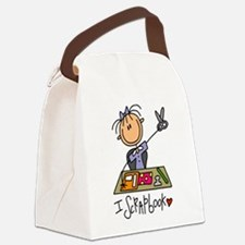 I Scrapbook Canvas Lunch Bag