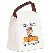 NURSEFIXER.png Canvas Lunch Bag