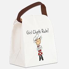 girlchefsrule.png Canvas Lunch Bag