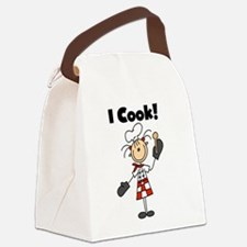 icookfemalechef.png Canvas Lunch Bag