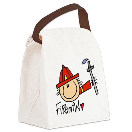 headfiremanmale.png Canvas Lunch Bag