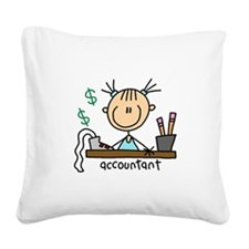 ACCOUNTANTSTICKFIG.png Square Canvas Pillow