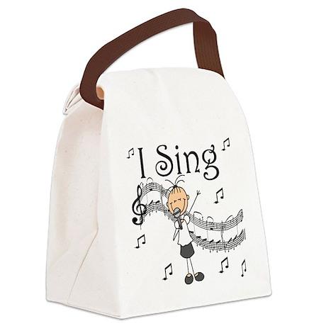 I Sing (FEMALE) Canvas Lunch Bag