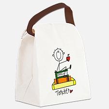 TEACHERSTICKBB.png Canvas Lunch Bag