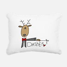 reindeerdasher.png Rectangular Canvas Pillow