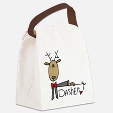 reindeerdasher.png Canvas Lunch Bag