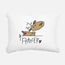 REINDEERPRANCER.png Rectangular Canvas Pillow
