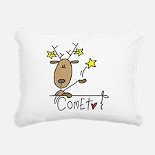 reindeercomet.png Rectangular Canvas Pillow