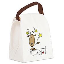 reindeercomet.png Canvas Lunch Bag