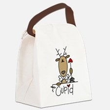 REINDEERCUPID.png Canvas Lunch Bag