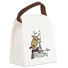 reindeerblitzen.png Canvas Lunch Bag