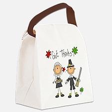 givethankspilgrims.png Canvas Lunch Bag