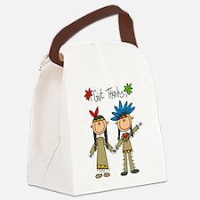 givethankssticks.png Canvas Lunch Bag