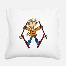STICKWINTERTHREE.png Square Canvas Pillow