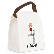 IDIVEGIRLTEEE.png Canvas Lunch Bag