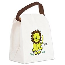 zoosticklion.png Canvas Lunch Bag