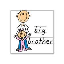 "Big Brother With Little Sister Square Sticker 3"" x"