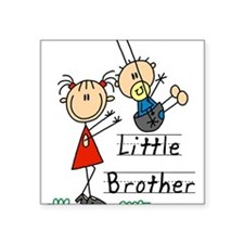 Swing Little Brother Big Sister Square Sticker 3""