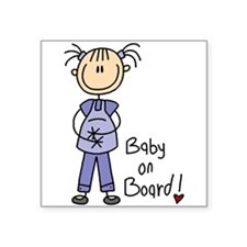 "Baby on Board Square Sticker 3"" x 3"""