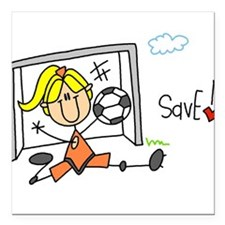 """2-girlsoccerseven.png Square Car Magnet 3"""" x 3"""""""