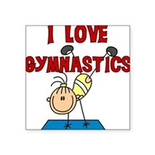 """gymnasis.png Square Sticker 3"""" x 3"""""""