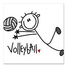 "jdvolleyballone.png Square Car Magnet 3"" x 3"""