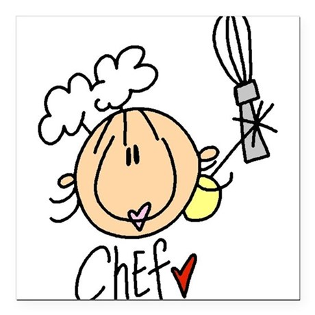 """HEADCHEF.png Square Car Magnet 3"""" x 3"""""""