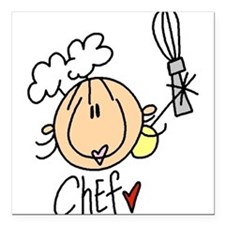 "HEADCHEF.png Square Car Magnet 3"" x 3"""