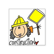 """headconstruction.png Square Sticker 3"""" x 3"""""""