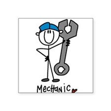 "mechanicstickb.png Square Sticker 3"" x 3"""