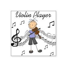 """Violin Player Square Sticker 3"""" x 3"""""""