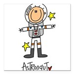 astroastronaut.png Square Car Magnet 3