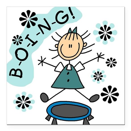 """boingtrampoline.png Square Car Magnet 3"""" x 3"""""""