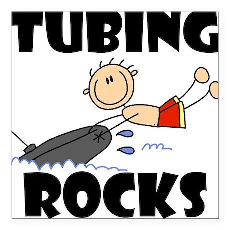 "TUBINGROCKSTEE.png Square Car Magnet 3"" x 3"""