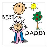 Daddy daughter Square Car Magnets