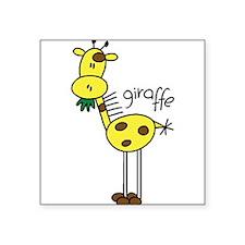 """zoostickgiraffe.png Square Sticker 3"""" x 3"""""""