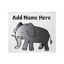 Personalized Elephant Throw Blanket