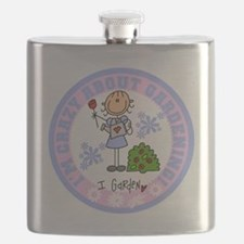 Crazy About Gardening Flask