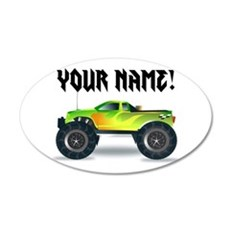 Personalized Monster Truck Wall Decal Sticker
