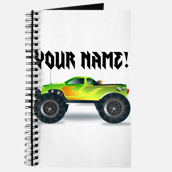 Personalized Monster Truck Journal