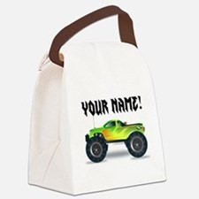 Personalized Monster Truck Canvas Lunch Bag