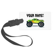 Personalized Monster Truck Luggage Tag