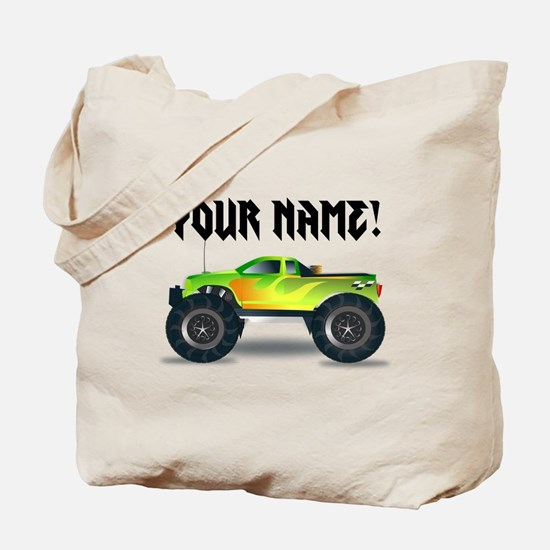 Personalized Monster Truck Tote Bag