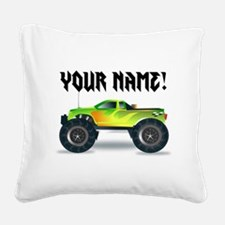 Personalized Monster Truck Square Canvas Pillow