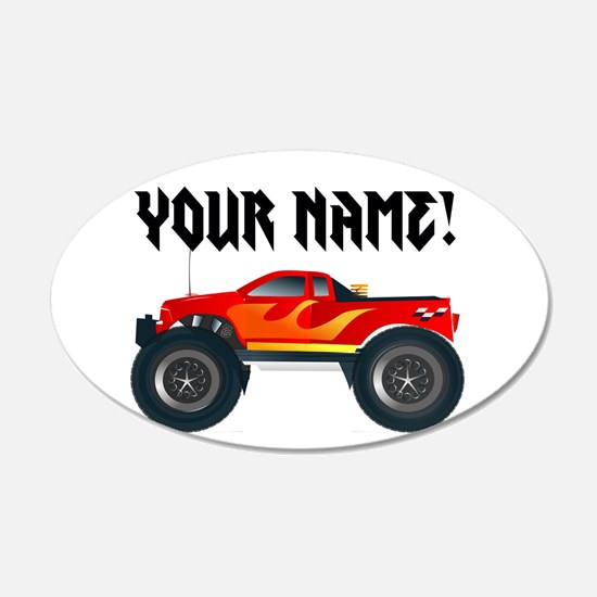 Red Monster Truck Personalized Wall Sticker